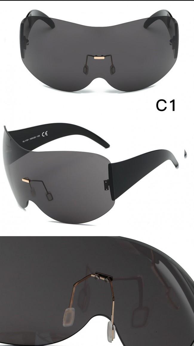 2d4286d832d Wraparound Shield Super Oversized Aviator Sunglasses