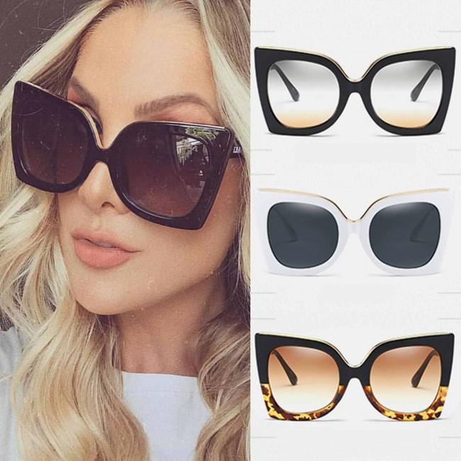 435e6f49c Celebrity women club cat eye big oversized sunglasses · Zoom