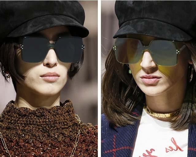 rimless square sunglasses