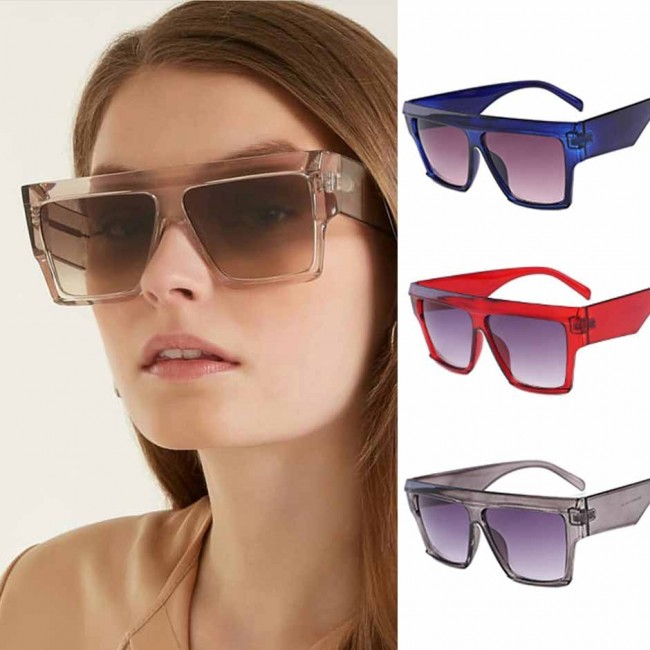 4a6ae2973e Vintage oversize square frame sunglasses gradient tint