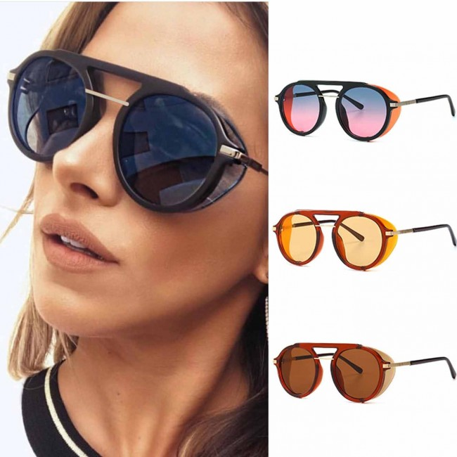 524422cf3d Side Shields Steampunk Round Retro Spectacle Shades. Zoom · the sunglasses  shop