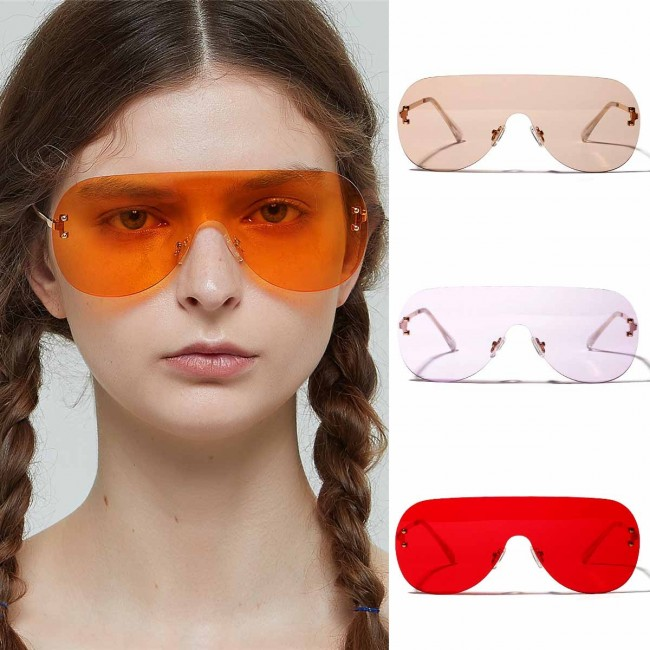 1f5993e4106 One piece sunglasses trendy oversize shield sunnies · Zoom