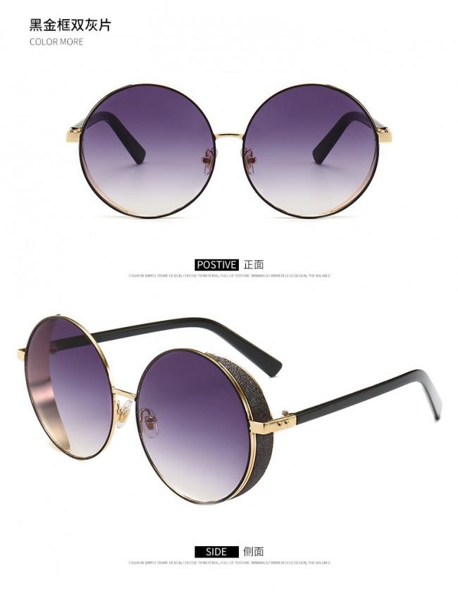 bba2ca60e56 Retro festival punk sunglasses round lens side shield · Zoom · sunglasses  for oval face women