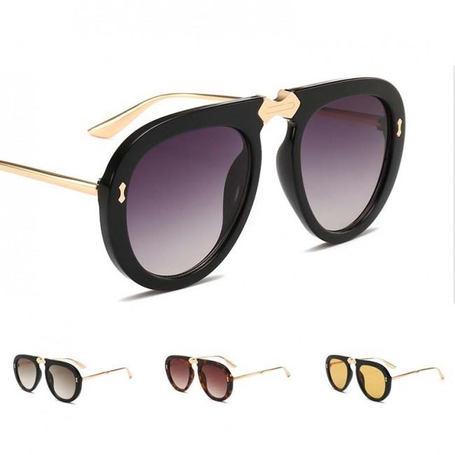 d09207605 Flat Top Aviator Sunnies Bold Rim Frame Tear Drop Lens · Zoom · cheap  ladies designer sunglasses
