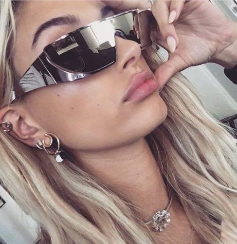 silver wrap around sunglasses