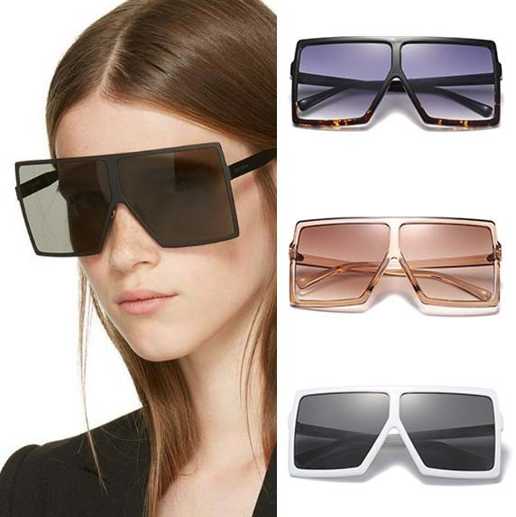 Vintage 70s style boxy square sunglasses retro eyewear