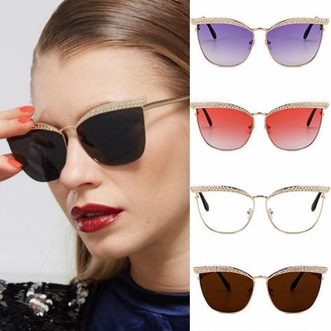 94b547b2a240 Indie trendy oversized rhinestones cat eye sunglasses · Zoom · cool  sunglasses for women 2017