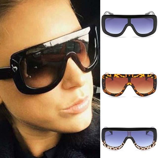 629e2690b39 Cool Oversized Pilot Sunglasses Men Women Square Frame · Zoom