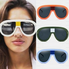 Tear Drop Aviators Bold Frame Cute Oversize Sunglasses