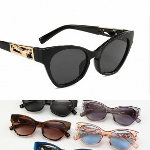 Leopard Temple High Pointed Stylish Cat Eye Sunglasses