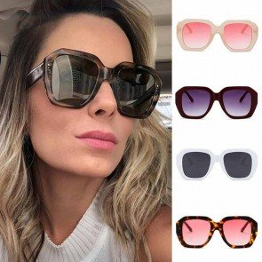 Luxury Boxy Screen Unisex Bold Square Sunglasses