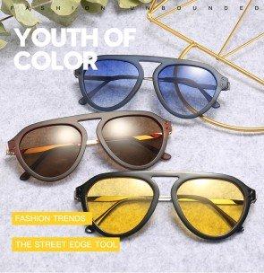 Modern Aviation Style Sunglasses Cool Tint Ocean Lens