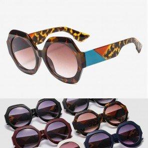Stunning octagon frame multicolored round sunglasses
