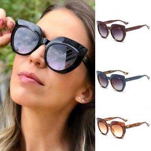 Vintage Acetate Bold Frame Oversized Cat Eye Sunglasses