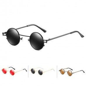 Hippie Punk Round Sunglasses Retro Small Size Flat Lens