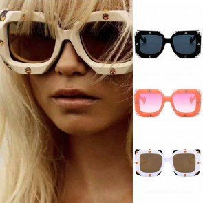 Big frame Square Rhonestone Sunglasses Oversized Shades