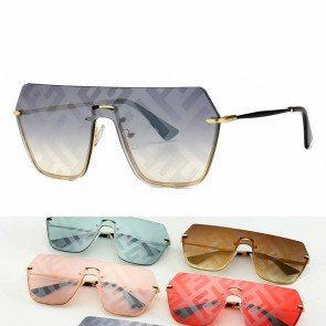 One Piece Aviator Sunglasses Flat Top Shield Lens
