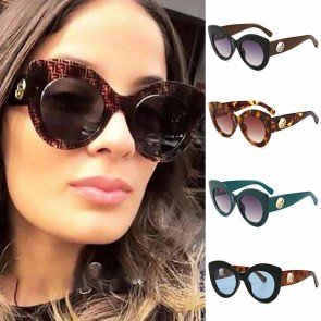Multi Colored Cat Eye Oversize Sunglasses for Girls