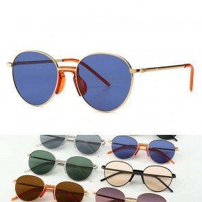 Vintage round sunglasses flat lens comfy nose pieces