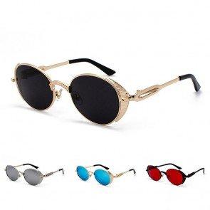 Vintage round sunglasses side shields goth steampunk