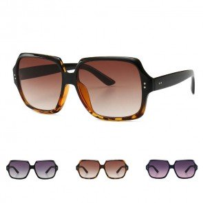 Oversized hexagon silhouette vintage glam sunglasses