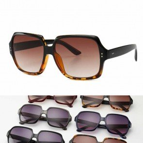 Hexagon Lightweight Acetate Frame Vintage Sunglasses