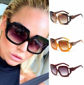 Modern Oversized Square Sunglasses Multi Tinted Frame
