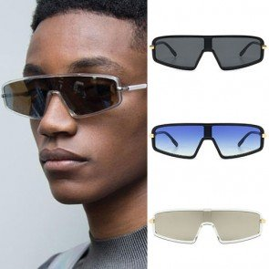 Flat top shield one lens sunglasses windproof goggles