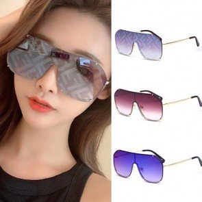 Luxury Oversize One Piece Sunglasses Shield Aviators