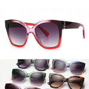 Indie trendy oversized multicolored cat eye sunglasses