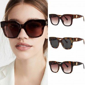 Thick Frame Retro Vintage Squared Cat Eye Sunglasses