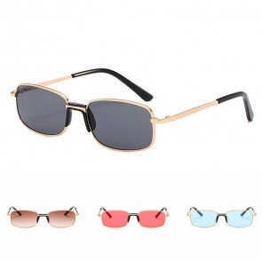 Vintage Metal Frame Small Rectangle Sunglasses