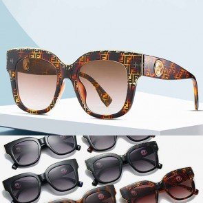 Oversized cat eye sunglasses high pointed square frame