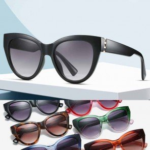 Multicolored Comfy Acetate Frame Cat Eyes Sunglasses