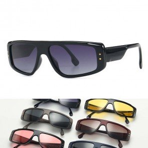 Sports pilot sunglasses rectangular wrap around profile