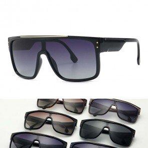 Polarized Extra Large Shield Futuristic Mask Sunglasses