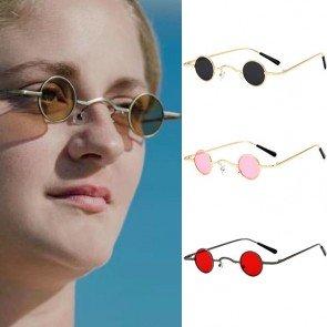 Retro fabulous steampunk sunglasses round small frame
