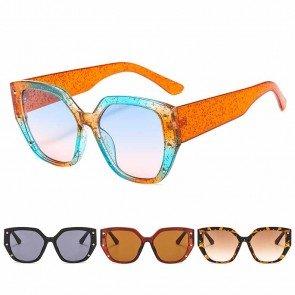 Vogue Multicolored Big Cat Eye Sunglasses Bold Legs