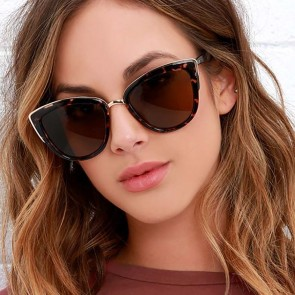 Retro Cat Eye Gradient Sunglasses Female Frame