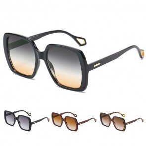 Flat Top Big Size Square Bold Statement Sunglasses