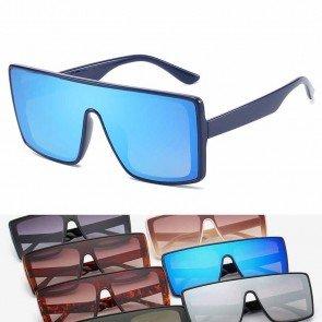 Flat Top Aviators Acetate Frame Vintage Sunglasses