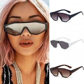 Futuristic Shield One Piece Mirror Lens Sunglasses
