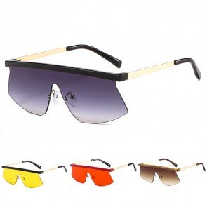 Colorful retro fit shield sunglasses one lens shades