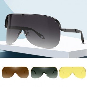 Pilot sunglasses super oversize shield wrap around lens