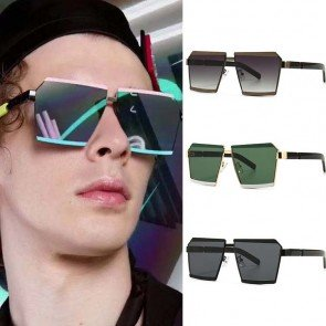 Unique Fashion Cool Square Double Color Sunglasses