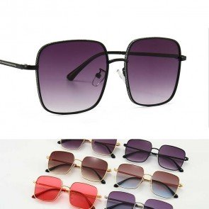 Fade Lens Glitter Sparkle Sunglasses Bling Square Frame