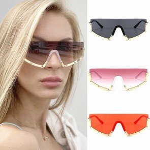 Goggles Men One Piece Oversized Sunglasses Women Shades