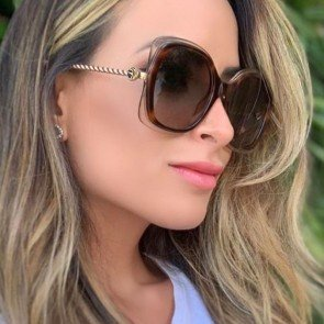 Square Sunglasses Gradient Lens Two Tone Rims Shades