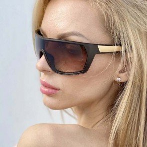 Wrap around sports sunglasses shield futuristic look