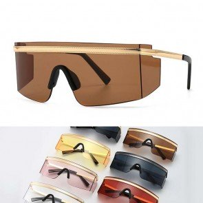 Innovative refined glamorous luxury shield sunglasses